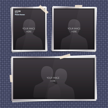 vector empty photo frames design