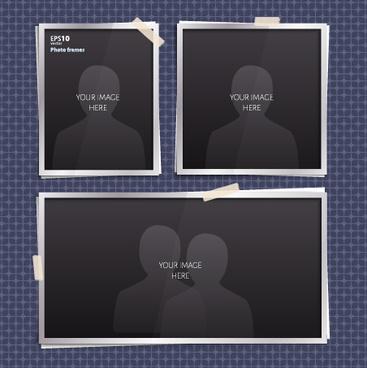 vector empty photo frames design