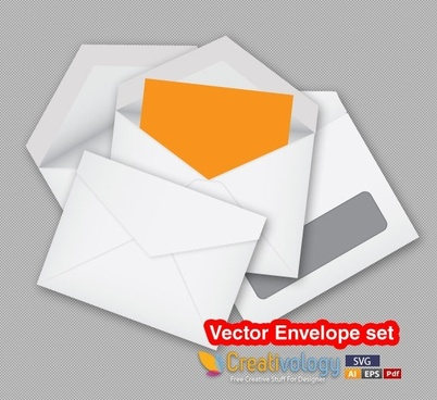 envelope background realistic design white yellow decor