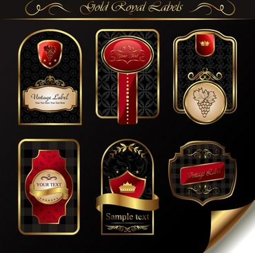labels templates luxury elegant european decor