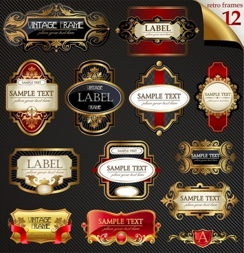 labels templates european classic decor