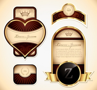 label design elements elegant shiny vintage royal decor