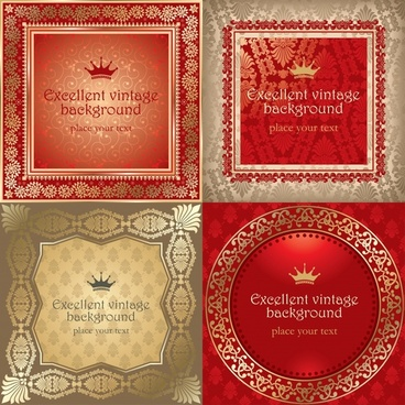 certificate background templates elegant retro royal decor