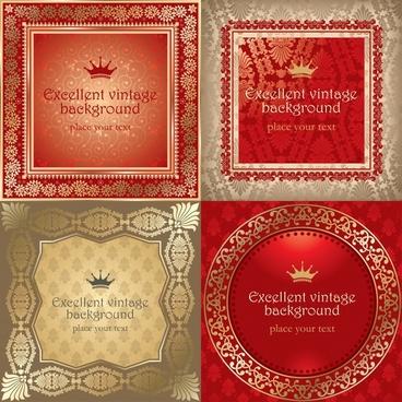 certificate background templates elegant retro royal decor