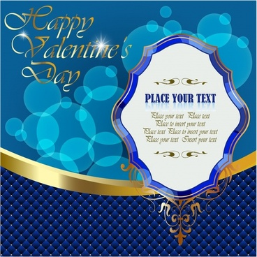 valentine poster template elegant luxury design bokeh decor