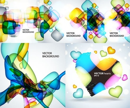 abstract fantasy background templates modern colorful transparent shapes