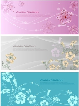 Vector fantasy flowers hand-painted