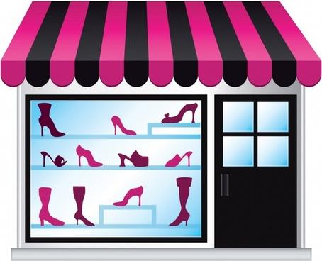 vector fashion shopping window