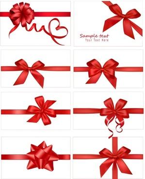vector festive gift bow