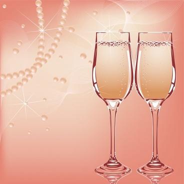 wedding background elegant brilliant necklace wineglasses decor