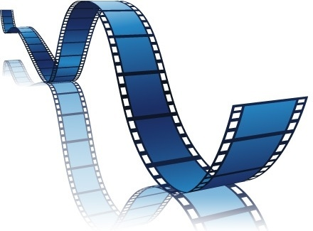 film symbol design colored curves decoration reflexion style