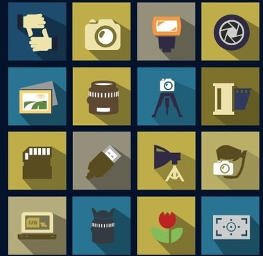 vector flat social icons set
