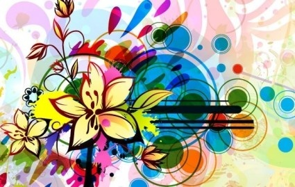 vector floral background graphic