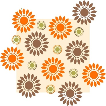 flowers background colored flat repeating decor