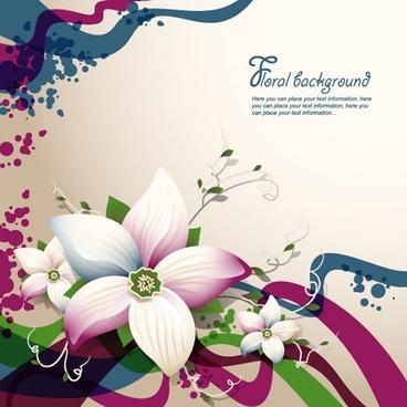 floral background colorful elegant petals decor
