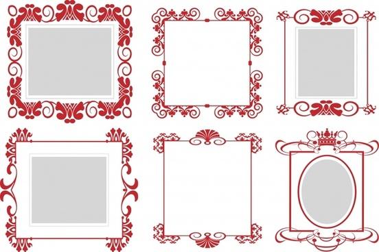 decorative document border templates elegant symmetric design