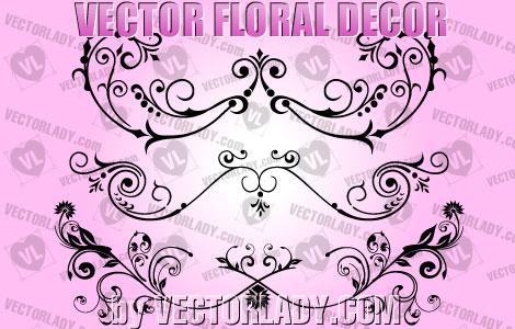vector floral decor