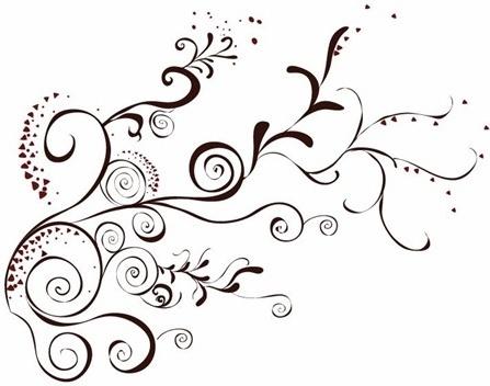 Vector Floral Design Element