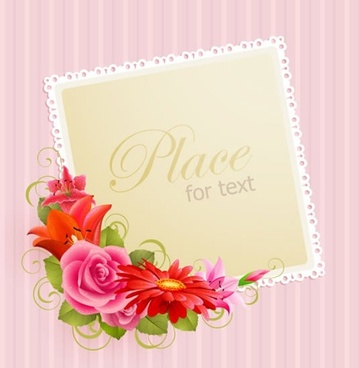 decorative card template colorful botany corner ornament