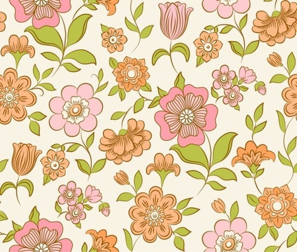 flowers background colorful classical flat decor