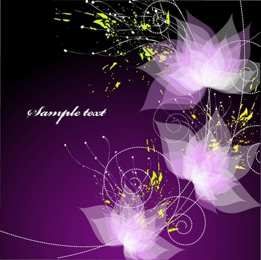 decorative background blurred violet lotus modern dynamic design