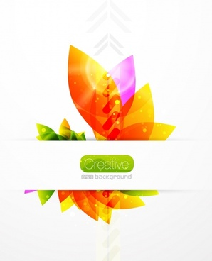 petals template modern colorful flat decor