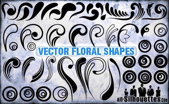 Vector Floral Shapes