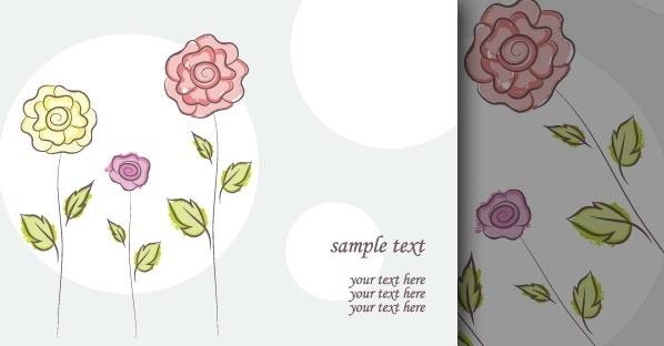 Vector flower doodles