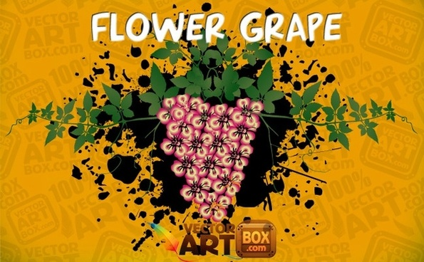Vector Flower Grape