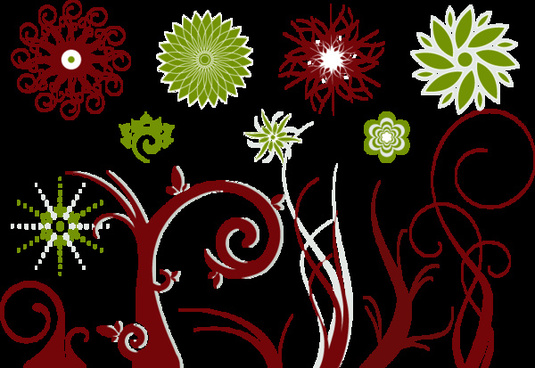 vector flower swirls