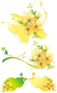 vector flower water mark