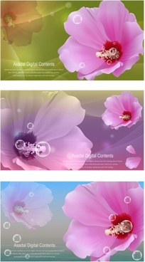 vector flowers bubbles