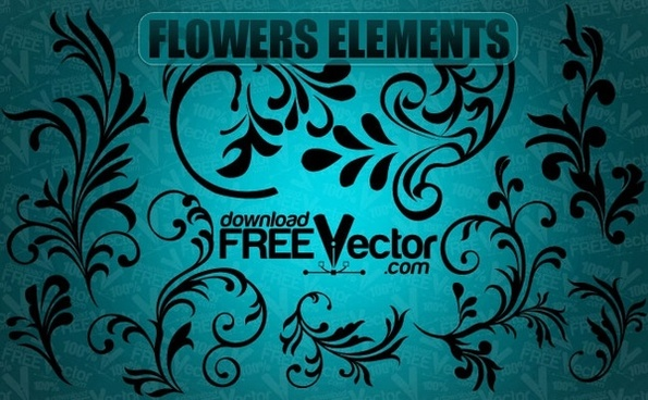 Vector Flowers Elements