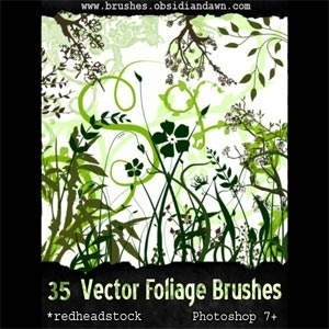 Vector Foliage - 35 Plants Brush