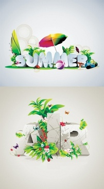 vector fonts beautifully designed posters
