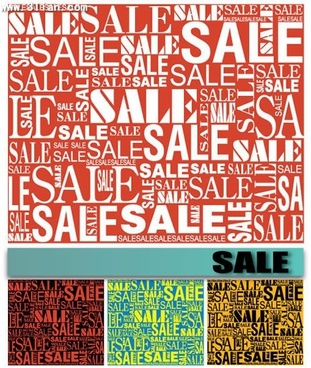 sales background texts decor vertical horizontal layout