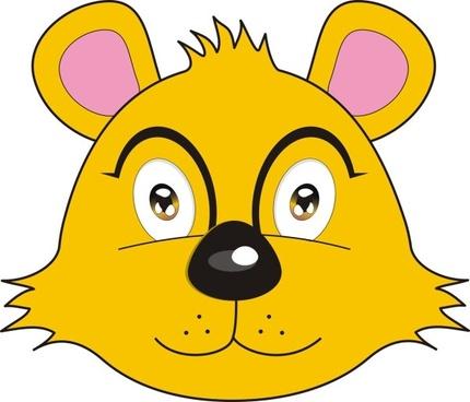 Vector fox bear avatar