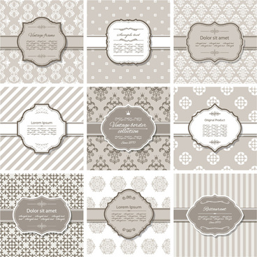 vector frame with vintage background graphics