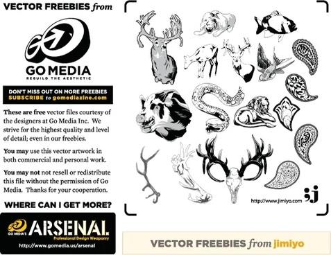 Vector Freebie from jimiyo: Animals