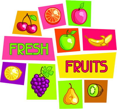 vector fresh fruit icons