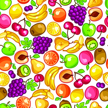 vector fresh fruit seamless pattern graphics