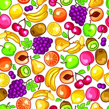 vector fresh fruit seamless pattern graphics