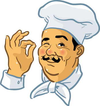 vector funny chef design graphic set