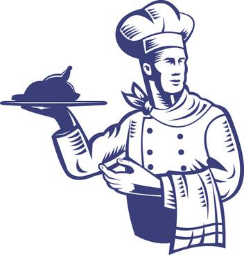 vector funny chef design graphic set