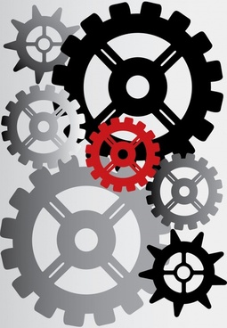 gears background modern colored flat design