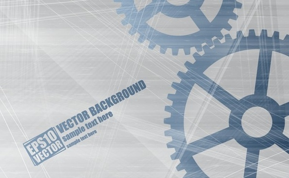 mechanism gears background grey flat design