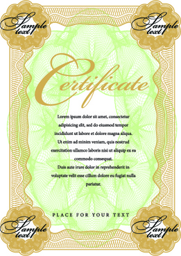 vector gentle certificate template set