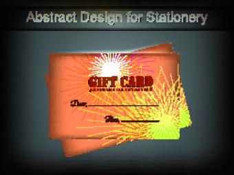 vector gift cards design set