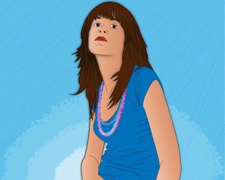 Vector Girl Portrait