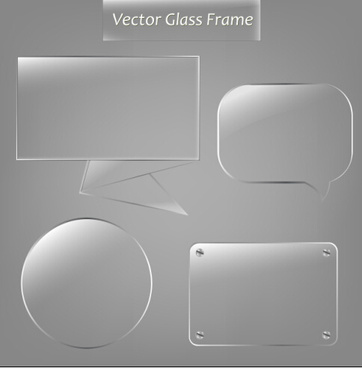 vector glass frame design vector